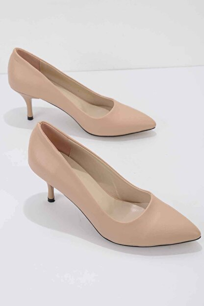 Bambi Nude Kadın Klasik Topuklu Ayakkabı K01842094009