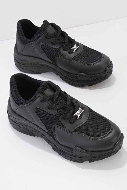 Bambi Siyah Kadın Sneaker K01836001009