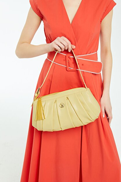 US Polo Assn Sarı Kadın Omuz Çantası Us8395