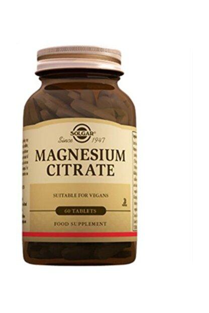 Solgar Magnesium Citrate Magnezyum Sitrat 60 Tablet