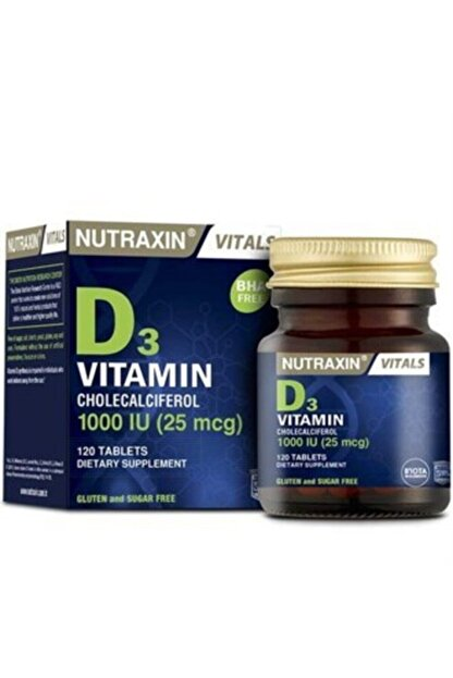 Nutraxin Vitamin D3 1000 Iu 120 Tablet