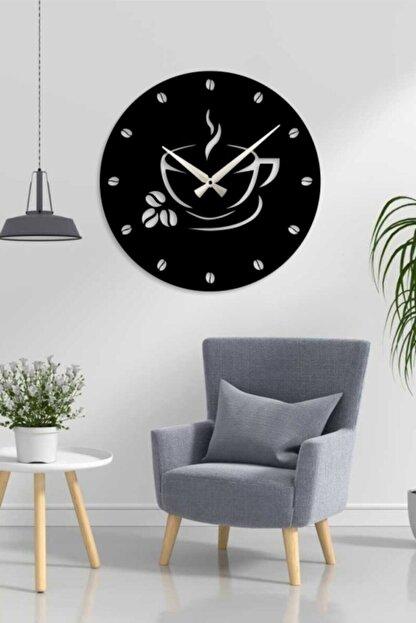 HediyeMANYA Kahve Tasarımlı Dekoratif Ahşap Mutfak Duvar Saati 50cm
