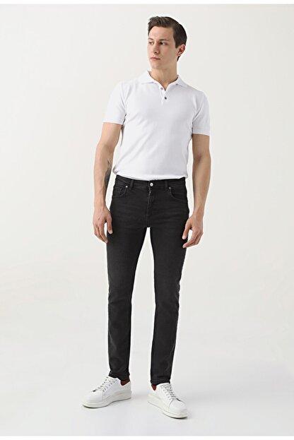 D'S Damat Erkek Siyah  Slim Fit Düz Denim Pantolon