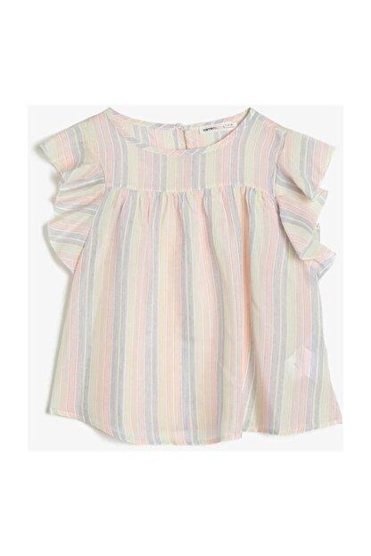 Koton Kız Çocuk Renkli Çizgili Bluz 0YKG67046AW