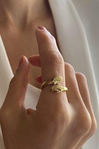 Giulens Altın Kaplama Ayarlanabilir Hug Yüzük
