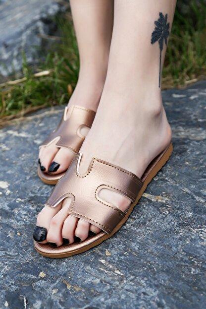 Ayakkabı Modası Bakır Kadın Terlik M1003-19-122030R
