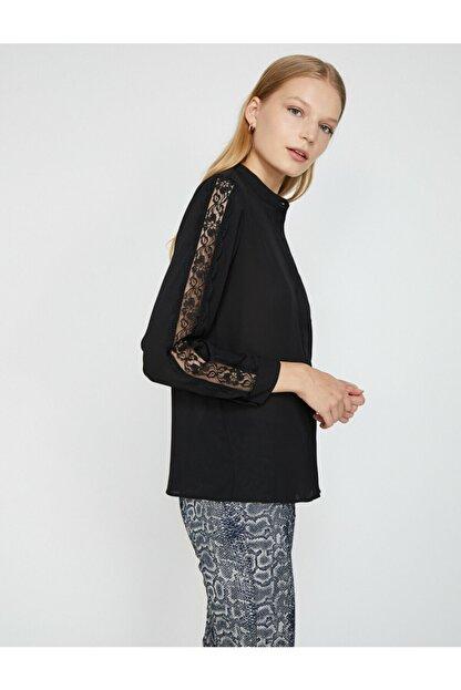 Koton Kadın Siyah Gömlek 0KAK68866PW