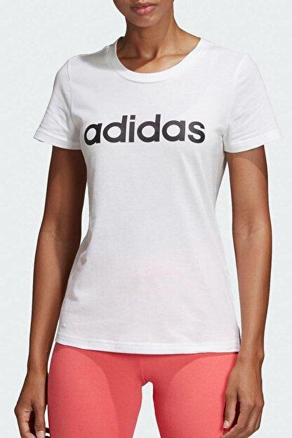 adidas W E LIN SLIM T Beyaz Kadın T-Shirt 100411862
