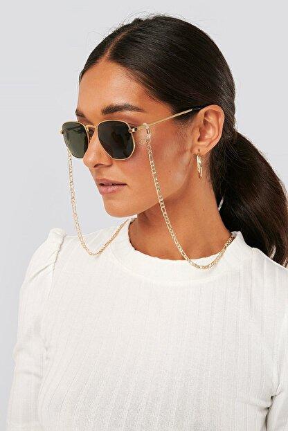 Design Look Ince Örgü Gözlük Zinciri Gold