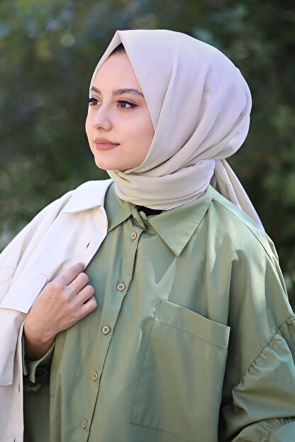 AFVENTE Kadın Bej Cotton Pamuk Şal Ck01