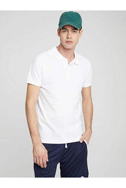Ltb Erkek  Beyaz Polo Yaka T-Shirt 012208450860890000