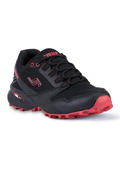 Jump 24810 Anatomik Günlük Erkek Spor Ayakkabı - - Siyah-kırmızı - 41