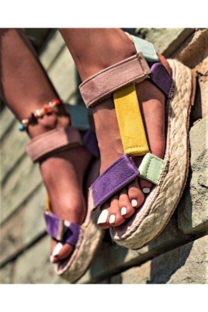 TEOS Ayakkabı Wicker Sandalet