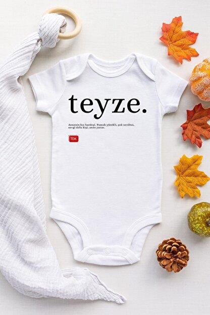 Happy Onesie Co Unisex Bebek Beyaz Teyze Tdk Çıtçıtlı Body
