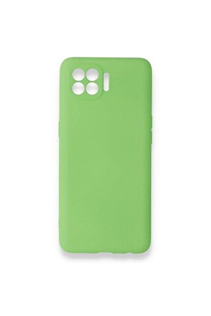 Oppo Reno 4 Lite Uyumlu Içi Kadife Yumuşak Silikon Kılıf Yeşil