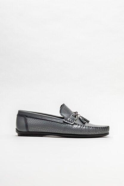 Elle Erkek Gri Deri Günlük Loafer Ayakkabı