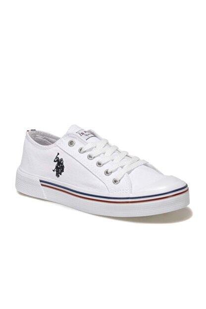 US Polo Assn Kadın  Beyaz Havuz Taban Sneaker 100696337