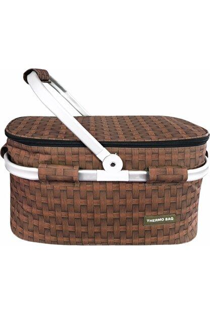 Weigo Thermo Bag Termoslu Piknik Sepeti - Piknik Çantası Kahverengi