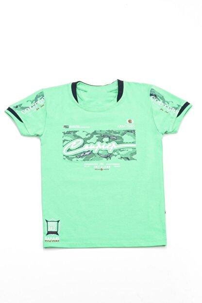 KidJunior Erkek Çocuk Yeşil T-Shirt 2-5 Yaş