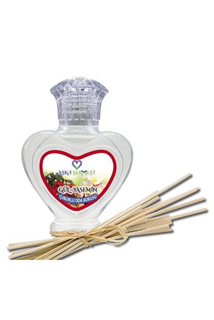 aşk-ı sermest Freesia&magnolia Aromalı Bambu Çubuklu Oda Kokusu Parfüm, Kalp Şişe, 60 Ml 7'li Paket
