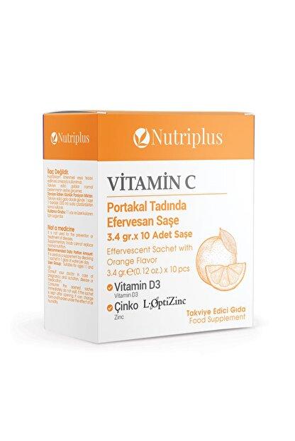 Farmasi Nutriplus Vitamin C,vitamin D3 Ve Çinko Içeren Efervesan Takviye Edici Gıda 3,4 Gr X 10 Saşe