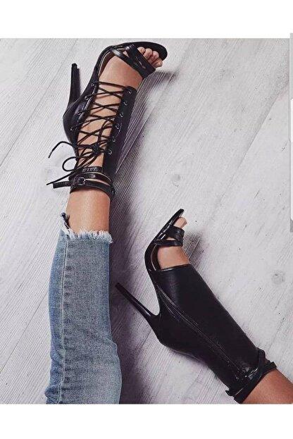 TANEM ÇELİK Kadın Siyah Lastikli Hector Ayakkabı