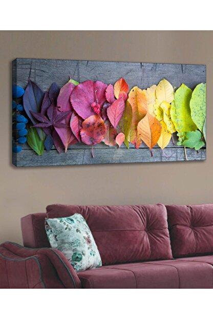 Evimona Çok Renkli Yaprak Kanvas Tablo - 120 X 60 cm kvs-010