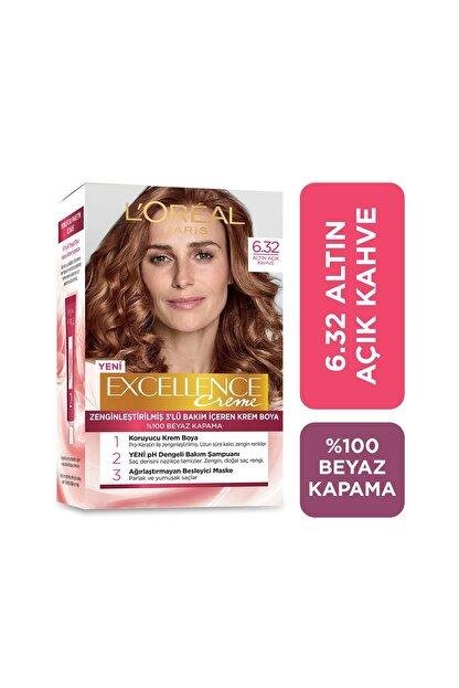 L'Oreal Paris Saç Boyası - Excellence Creme 6.32 Altın Açık Kahve 3600522378006