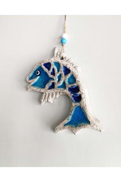 SUME Dekoratif Mini Boy Seramik Balık Renkli Duvar Süsü