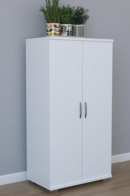 Remaks 110 cm 2 Kapaklı Çok Amaçlı Mutfak Dolabı - Beyaz