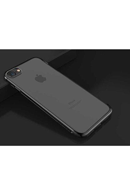 TeknoDuvar Apple Iphone 8 Kılıf Dört Köşe Renkli Lazer Silikon Kapak