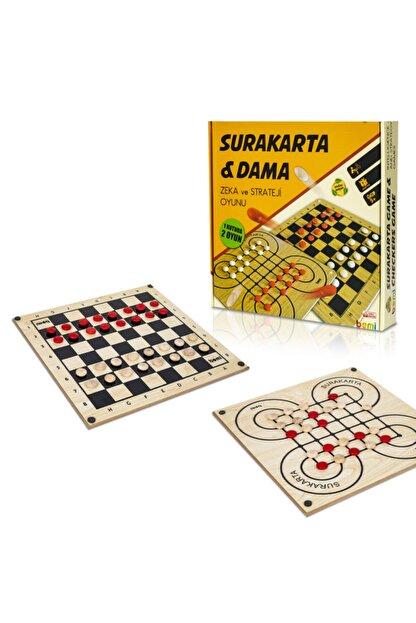 BEMİ Lüks Ahşap Surakarta & Dama - Beceri Eğitici Zeka Strateji Çocuk Ve Aile Oyunu