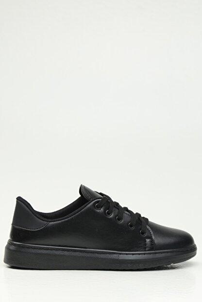 Ayakkabı Modası Kadın Siyah Spor Ayakkabı