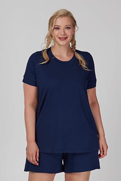 Büyük Moda Kolu Fırfırlı Basıc Tişört