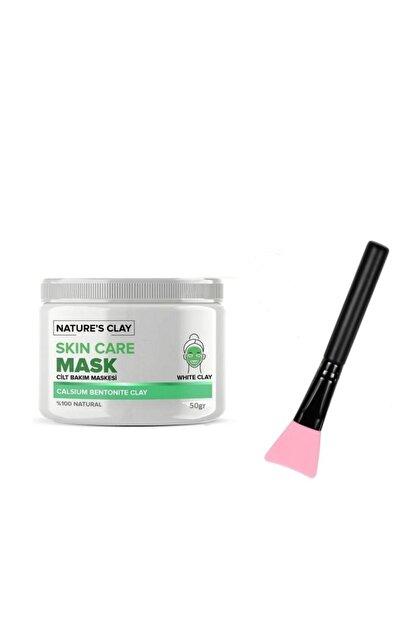 NATURE'S CLAY Kil Maskesi 50 gr + Maske Krem Fırçası Ikili Set