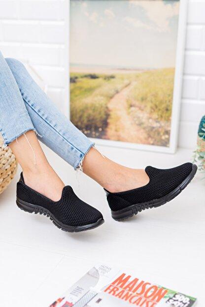 meyra moda Siyah Petek Memory Foam Ayakkabı