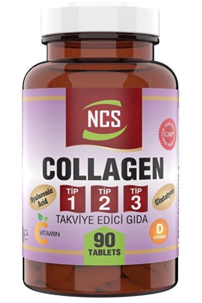 Ncs 90 Tablet Hidrolize Collagen (kolajen) Type (tip) 1-2-3 Hyaluronic Acid Vitamin C &d Glutatyon