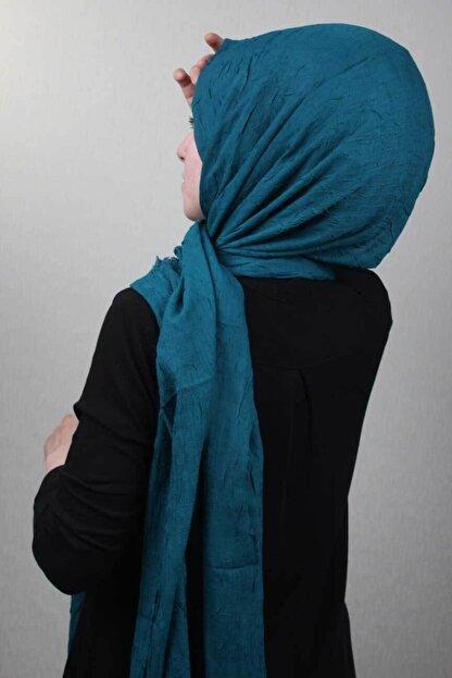 poloist Kadın Mavi Düz Renk Şal