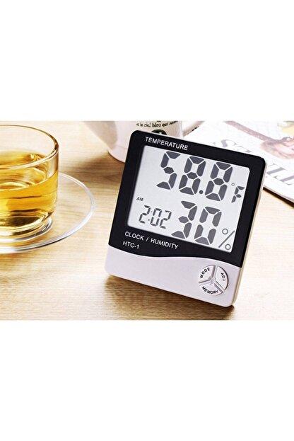 Nokta's Masaüstü Dijital Termometre Nem Ölçer Saat Higrometre