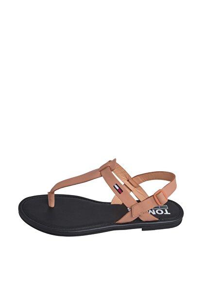 Tommy Hilfiger Kadın Turuncu Sandalet Color Block Basıc Thong Sandal EN0EN00908