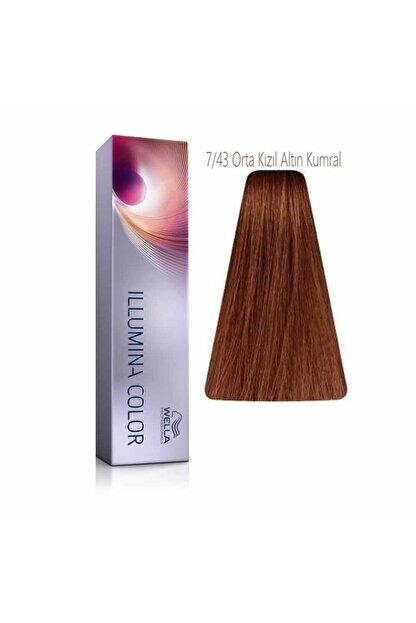 Wella Illumina 7/43 Orta Kızıl Altın Kumral Saç Boyası 60 Ml