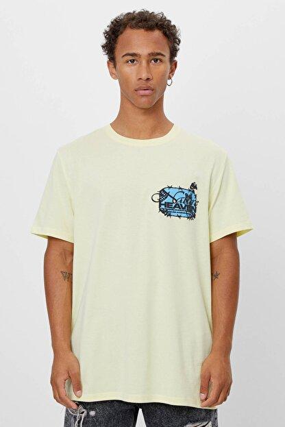 Bershka Uzun Kollu Baskılı T-shirt