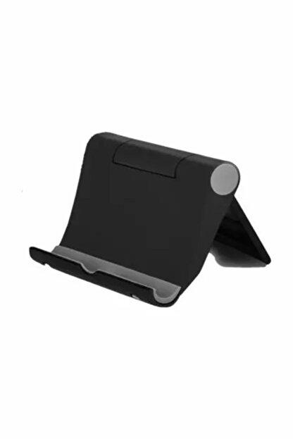 Atalay Siyah Ayarlı Ipad Tablet Ve Telefon Tutucu Masa Standı
