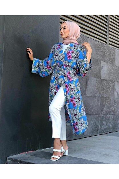 SAREM Kadın Yazlık Kuşaklı Şık Kimono