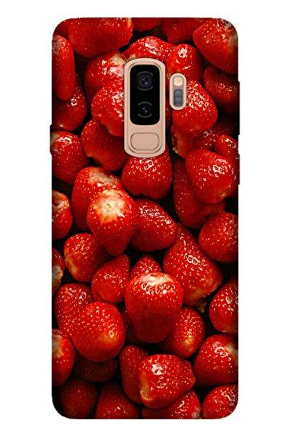 Cekuonline Samsung Galaxy S9 Plus Tıpalı Kamera Korumalı Silikon Kılıf - Çilekler
