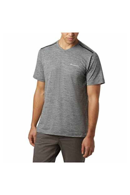 Columbia Erkek Gri Tech Trail Iı V Neck Outdoor T-shirt