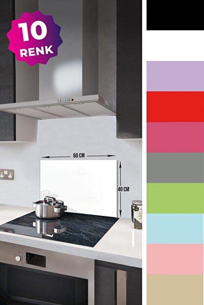 Decorita Düz Renk - Beyaz | Cam Ocak Arkası Koruyucu | 40cm x 60cm