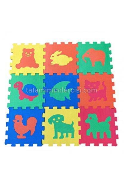 MOCHATOYS Hayvanlar 33x33 cm Yer Matı Oyun 10 mm 9 Parça