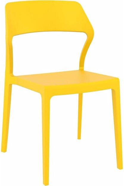 Siesta Sarı  Snow Plastik Contract Sandalye Mutfak Balkon Salon Bahçe Cafe