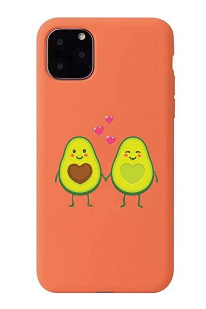 POFHİ Iphone 11 Pro Avokado Çift Turuncu Premium Telefon Kılıfı
